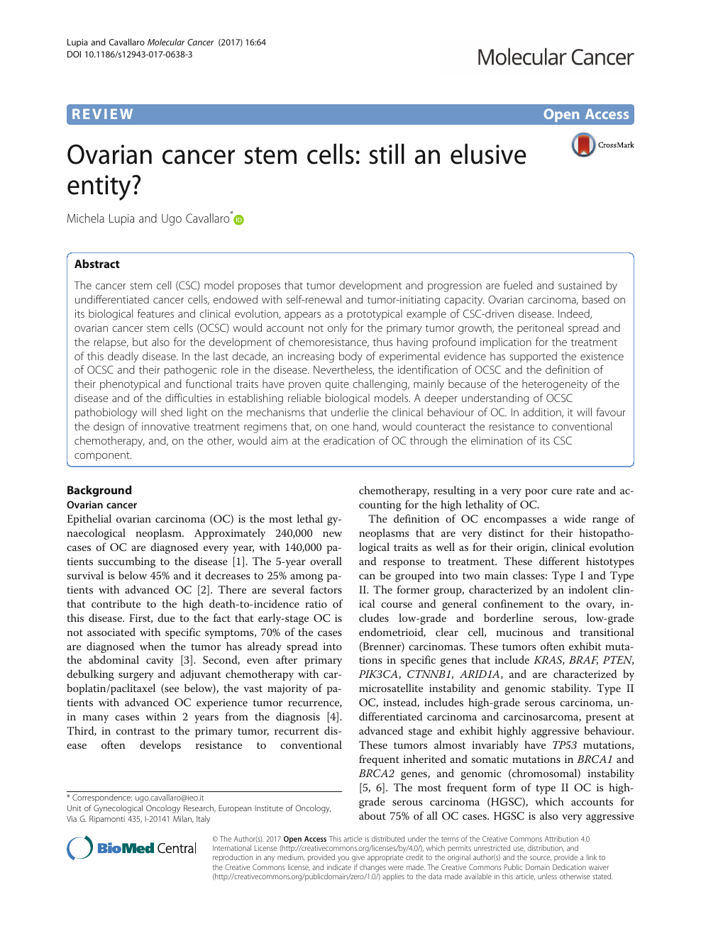 002 Ovarian Cancer Research Papers Paper Archaicawful Topics Free Full