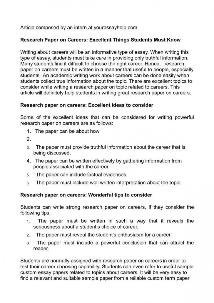 002 P1 Researchs On Careers Remarkable Research Papers Examples Of 728