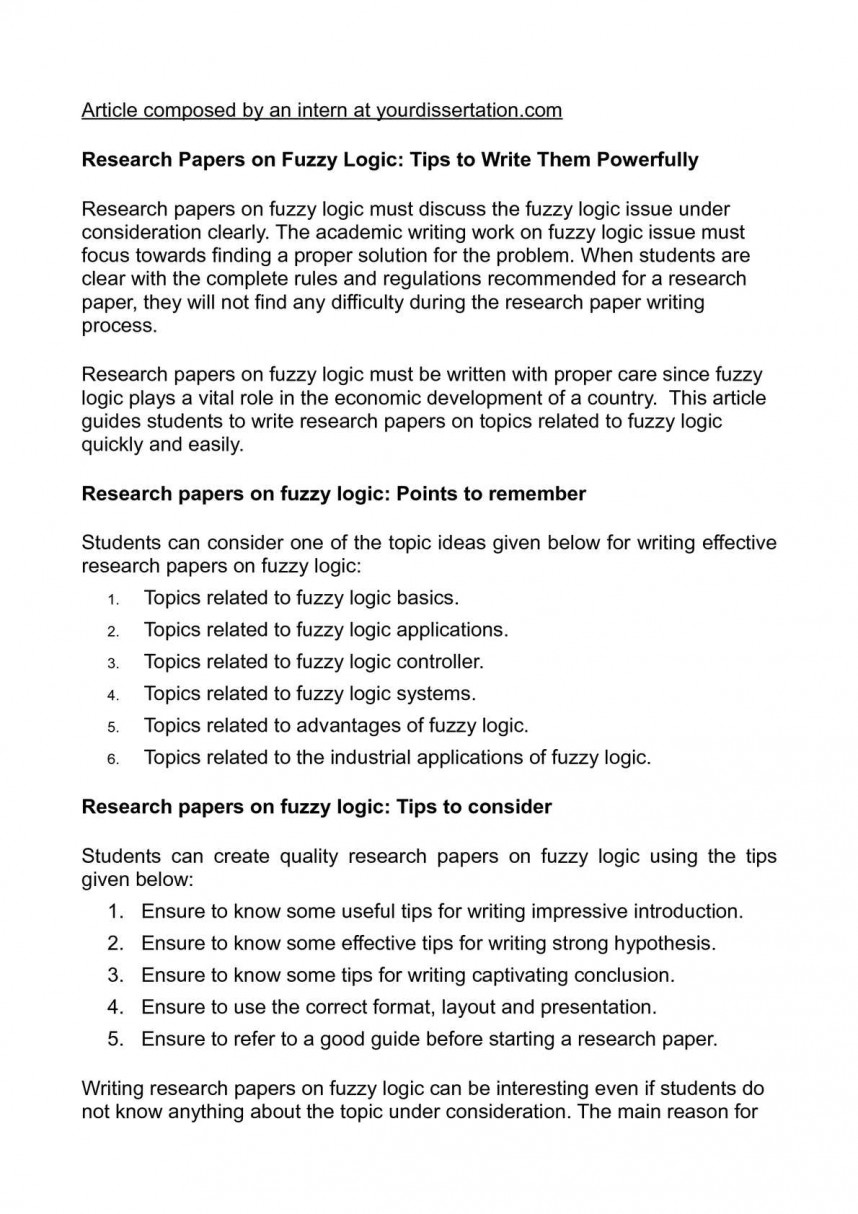002 P1 Tips For Writing Researchs Unforgettable Research Papers A Paper In College Apa