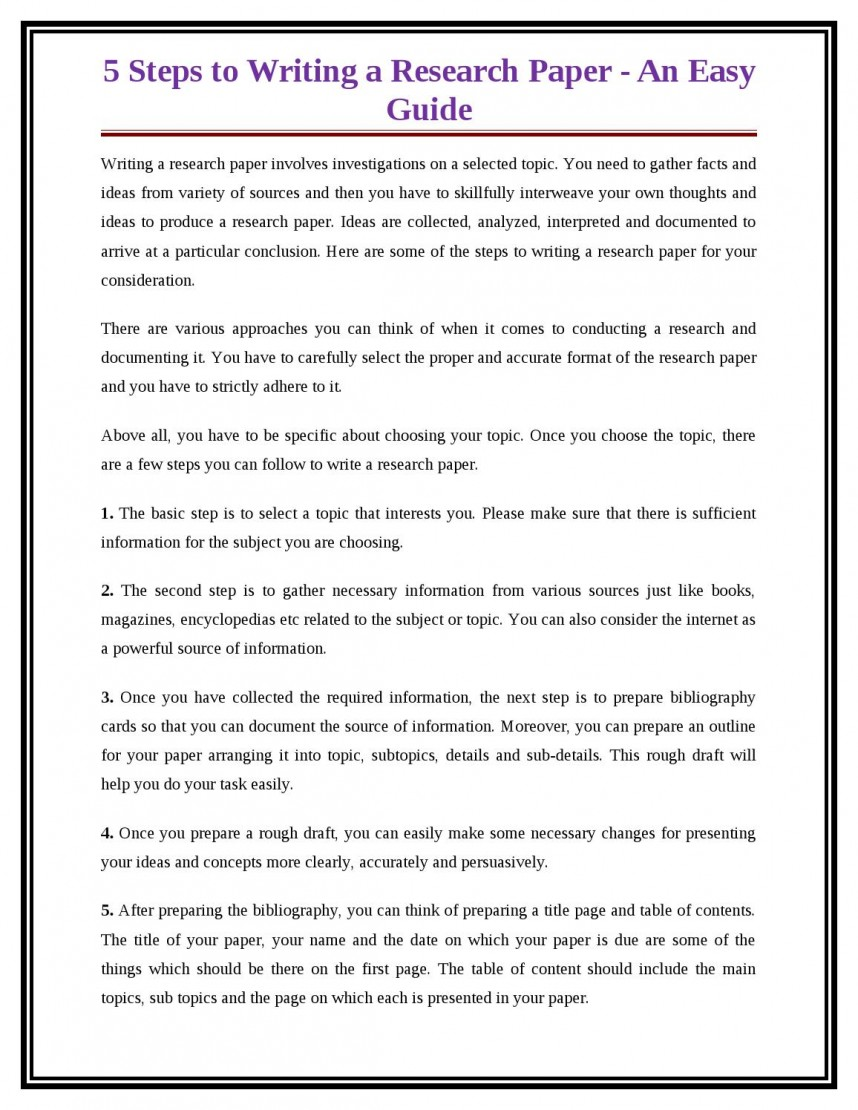 002 Page 1 Research Paper Steps Frightening Writing Ten For Papers 10 In A Pdf