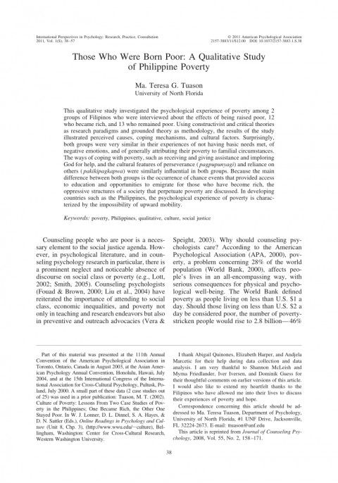 002 Poverty In The Philippines Research Paper Pdf Impressive 480