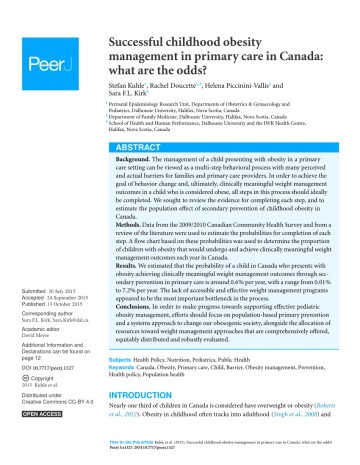 002 Primary Research Article On Childhood Obesity Paper Imposing 360