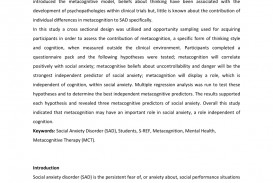 002 Psychology Research Paper On Social Anxiety Disorder Staggering 320