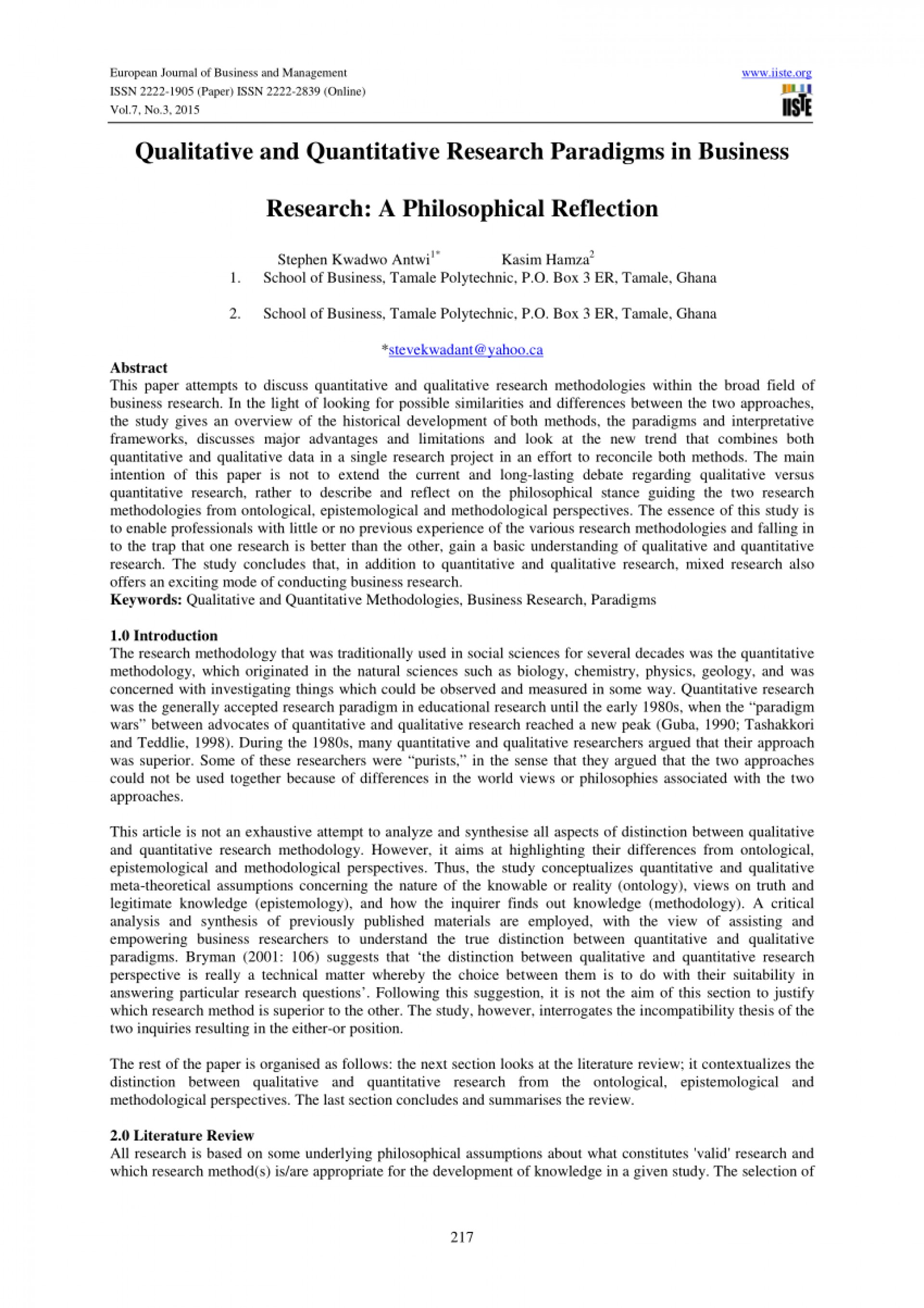 002 Qualitative Research Paper Example Help Amazing A How To Critique Examples Chapter 1 1920