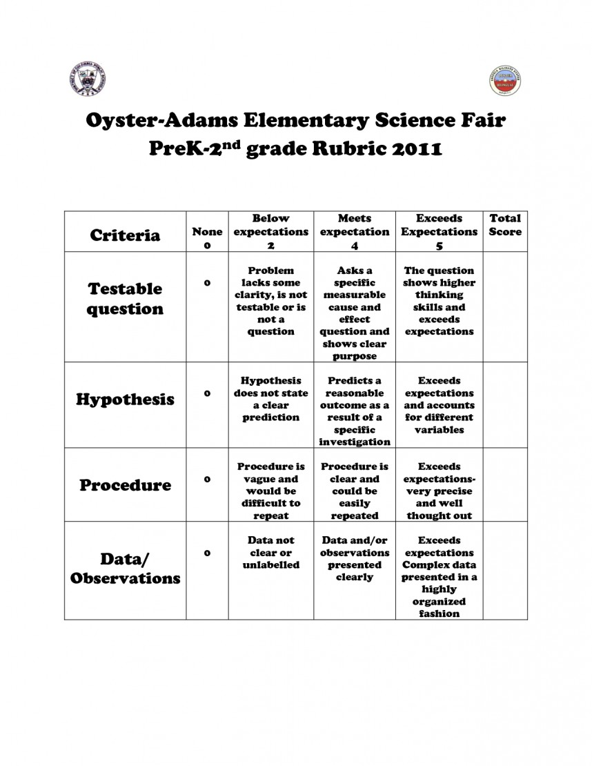 002 Research Paper 6th Grade Science Astounding Rubric