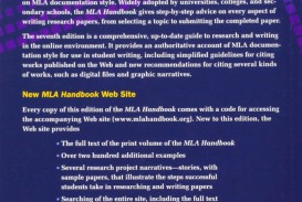 002 Research Paper 71euhznbrll The Mla Handbook For Writers Of Fearsome Papers 8th Edition 7th 2009 (8th Ed.) 320