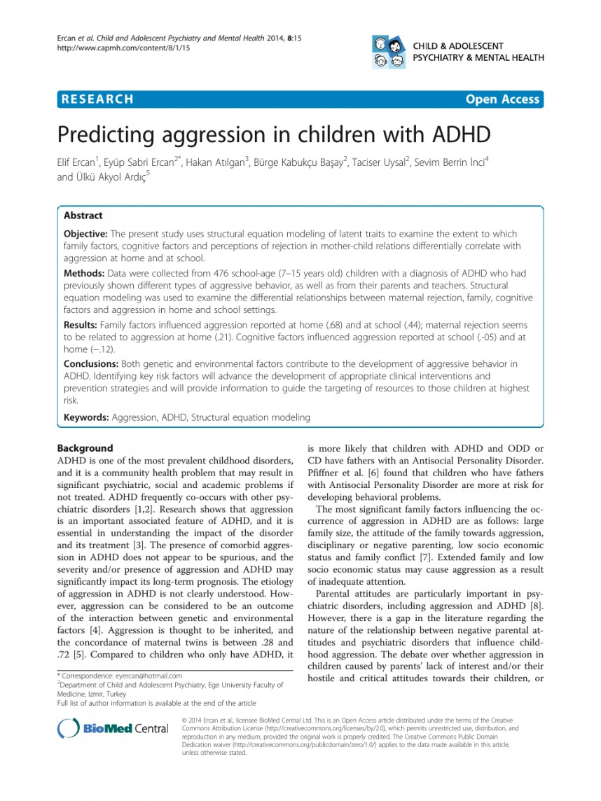 002 Research Paper Wondrous Adhd On Apa Style Outline Pdf