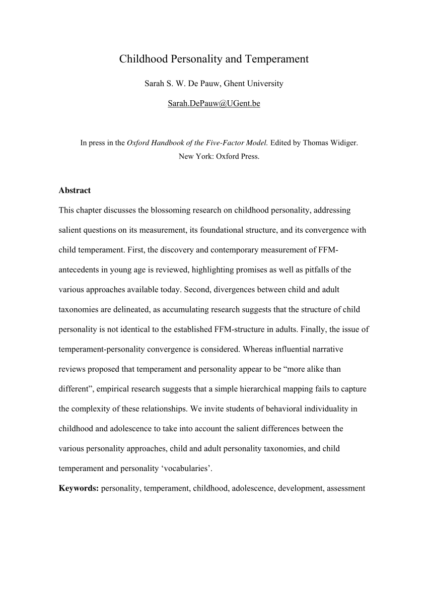 002 Research Paper Abstract About Child And Adolescent Development Unique Sample Pdf Full