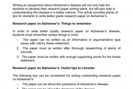 002 Research Paper Alzheimers Disease Introduction Fantastic Alzheimer's