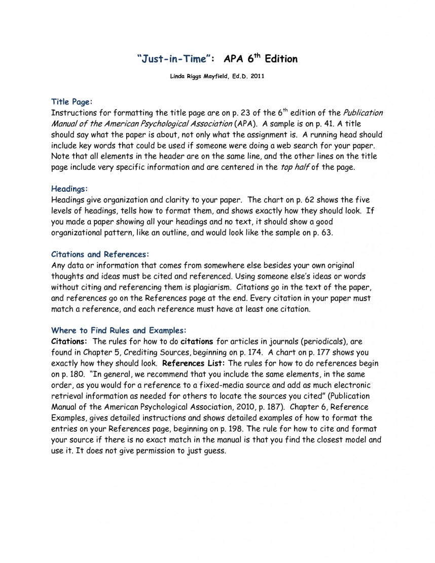 002 Research Paper Apa Style Example 6th Edition Marvelous