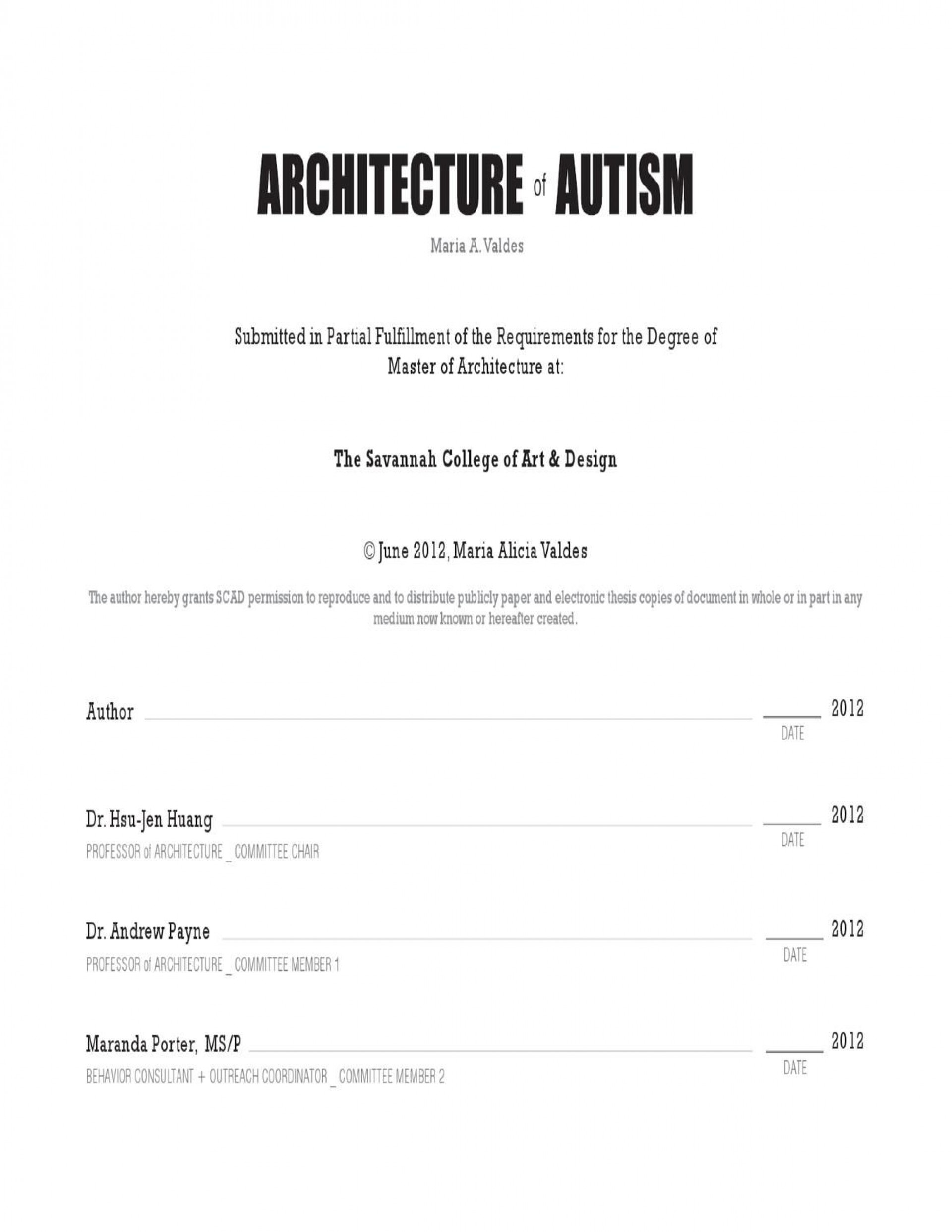 002 Research Paper Autism Fascinating Thesis 1920