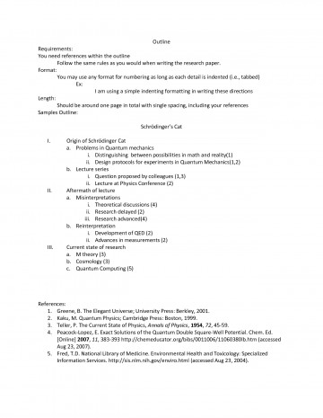 002 Research Paper Autism Apa Format Outline 477871 Frightening - 360