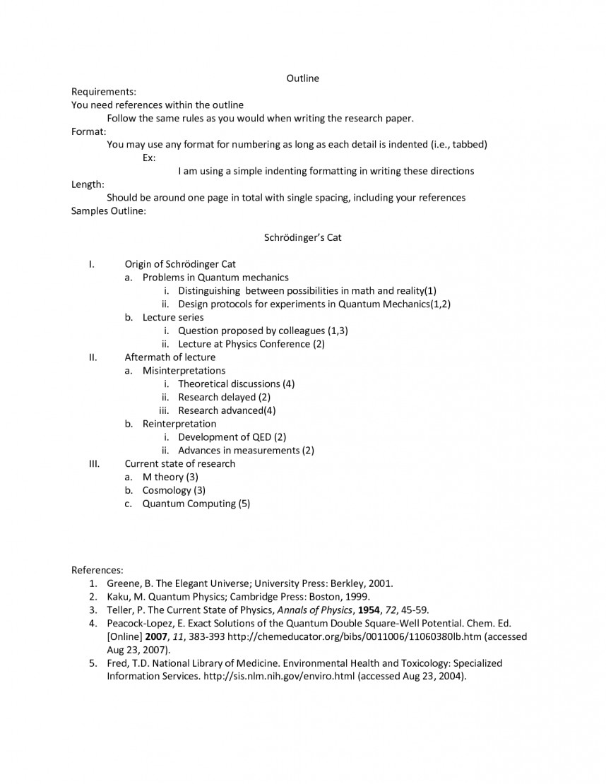 002 Research Paper Autism Apa Format Outline 477871 Frightening - 868