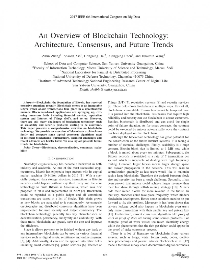 002 Research Paper Blockchain Technology Papers Incredible
