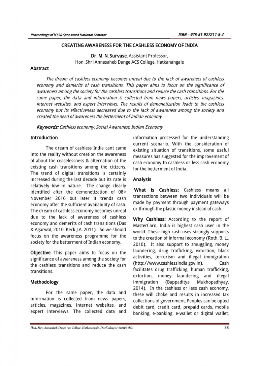 002 Research Paper Cash To Cashless Economy Rare