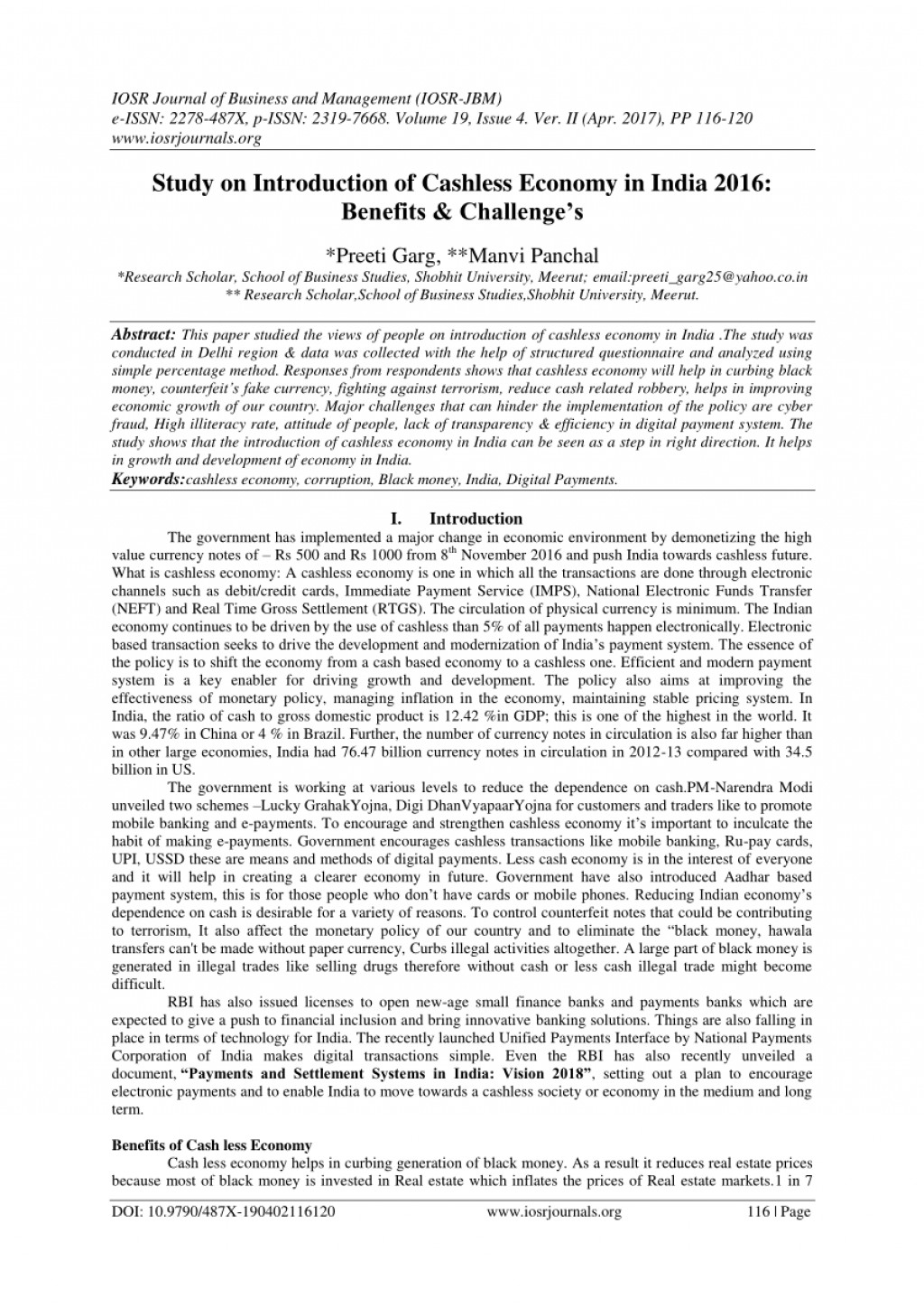 002 Research Paper Cashless Economy Frightening Papers Pdf Cash To Large