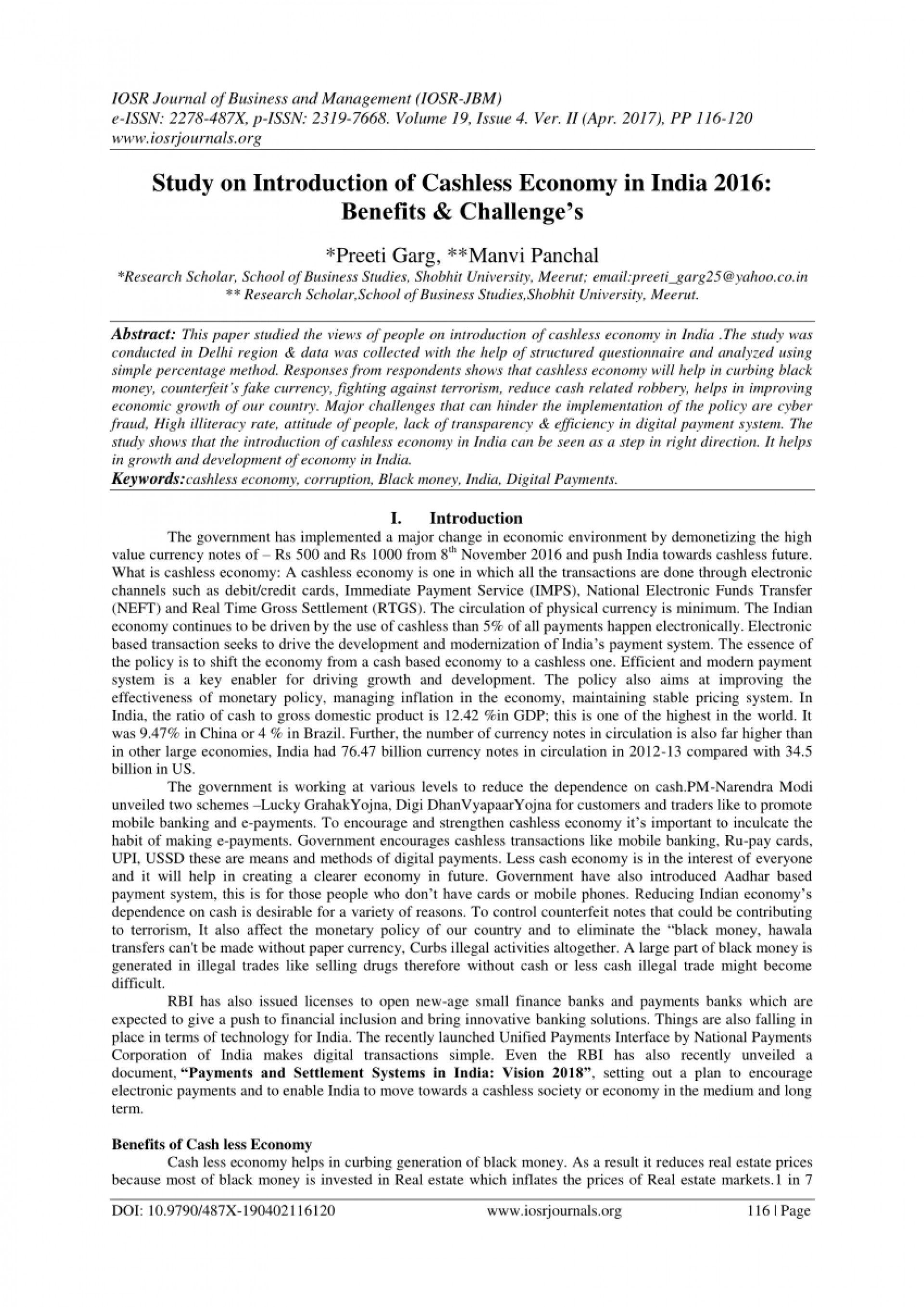 002 Research Paper Cashless Economy Frightening Papers Pdf Cash To 1920