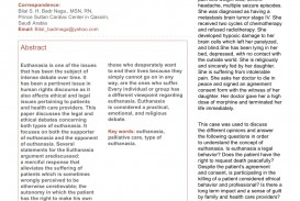 002 Research Paper Conclusion For Euthanasia Formidable