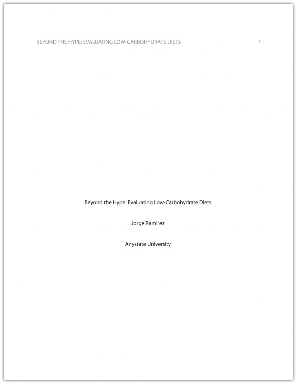002 Research Paper Cover Page Apa Excellent Layout Format Example Style Large