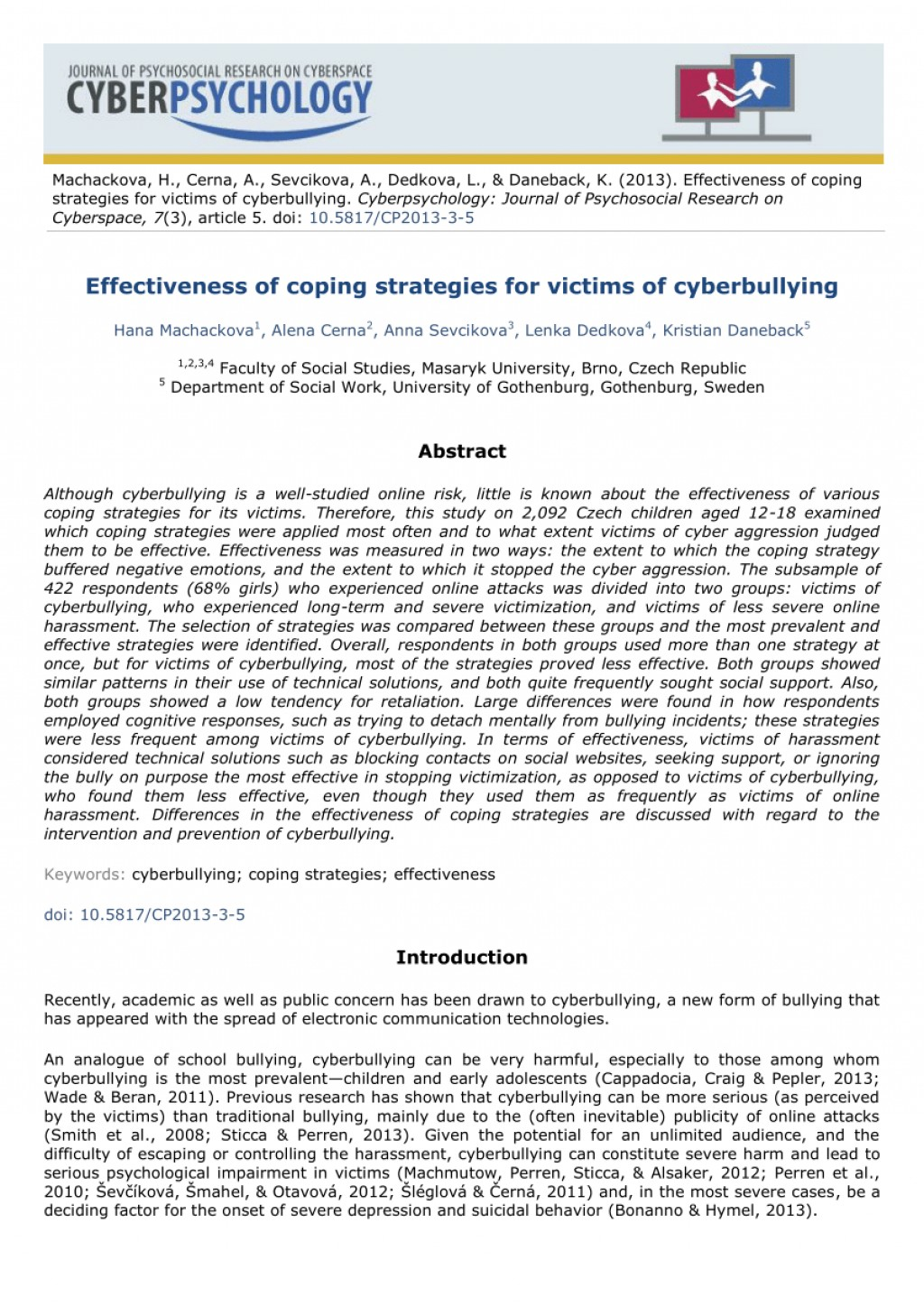 002 Research Paper Cyberbullying Abstract Phenomenal Large