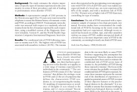002 Research Paper Examples Of Papers On Ptsd Imposing