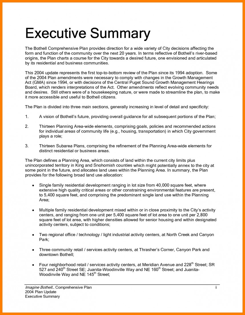 010 research paper executive summary proposal sample