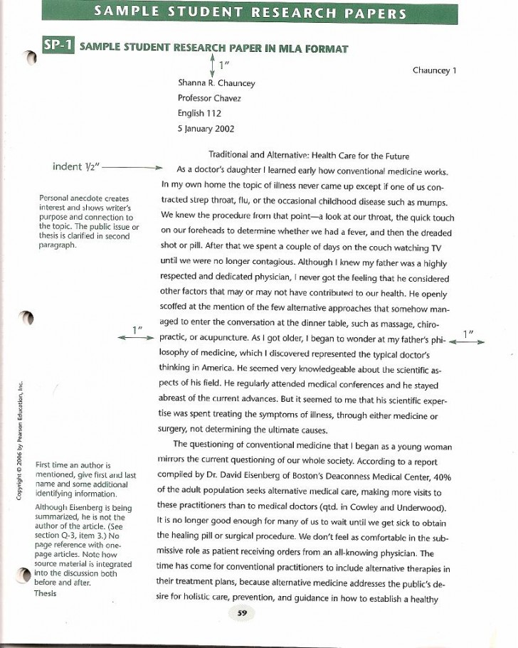 002 Research Paper Format Sample Singular Formats Types Of Apa 2010 Writing Example 728