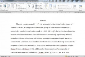 002 Research Paper How To Write Statistical Results In Exceptional A