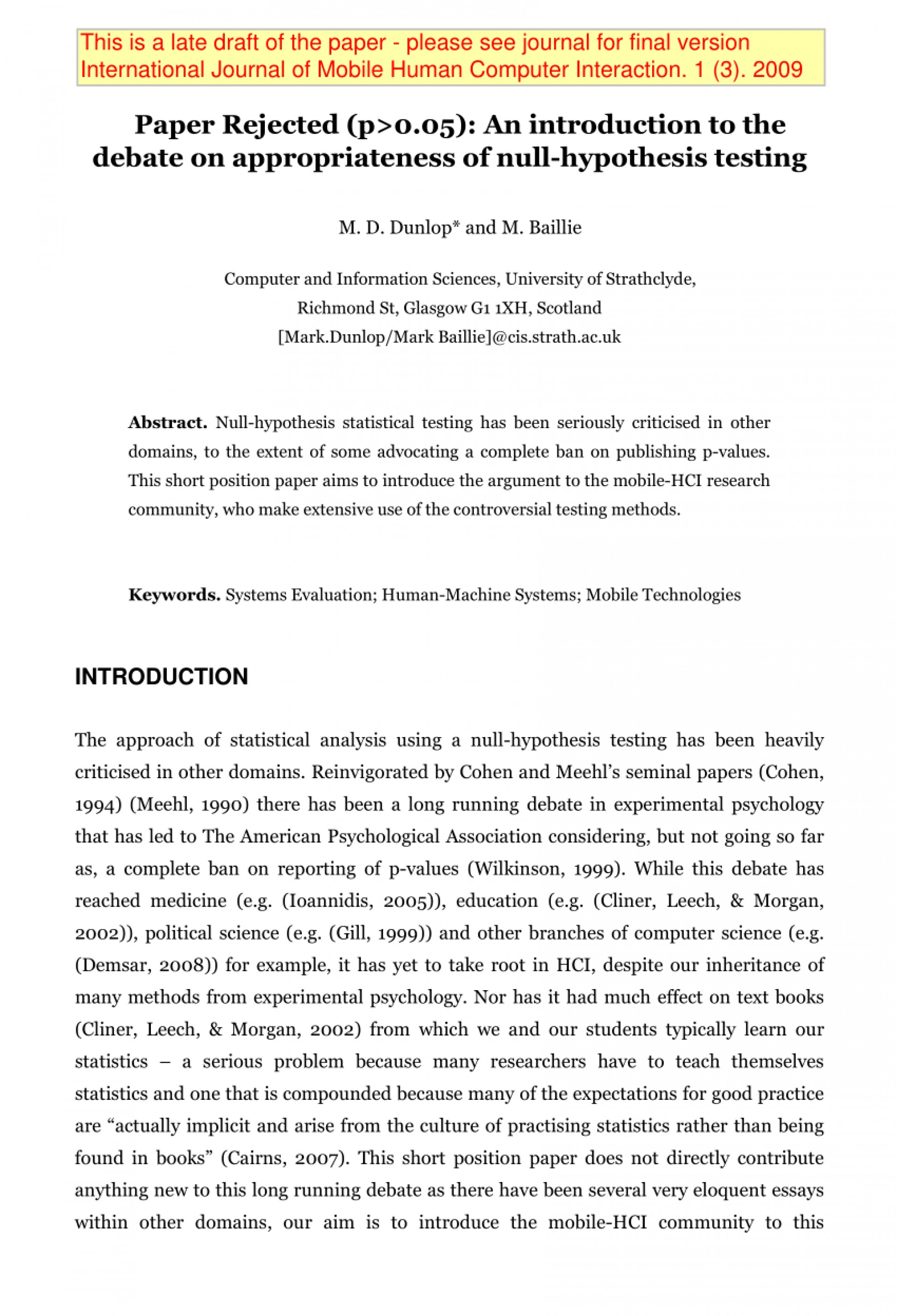 002 Research Paper Hypothesis Testing In Awesome Pdf 1920