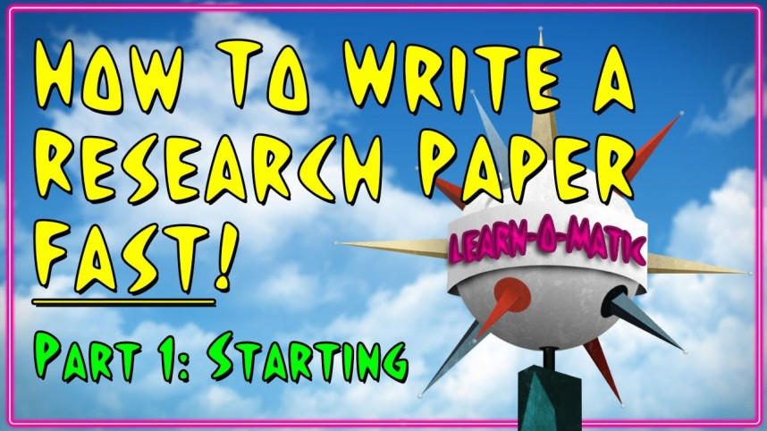 002 Research Paper Maxresdefault How To Write Fast Rare A Youtube