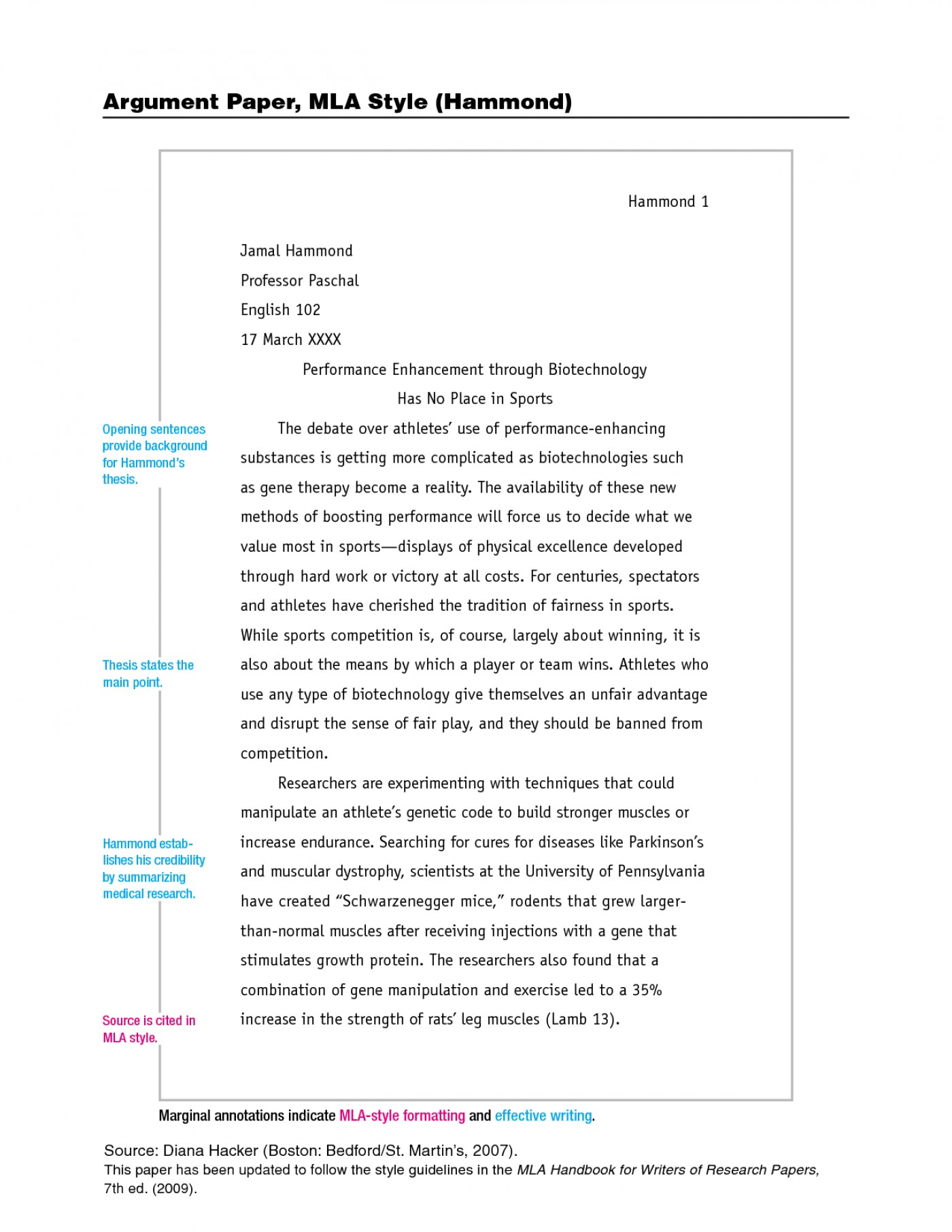 002 Research Paper Mla Style Sample Stupendous Papers Example Format Works Cited College Writing 1400