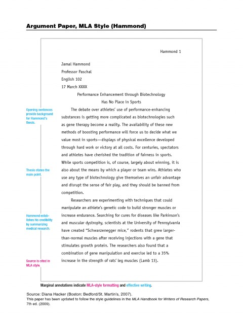 002 Research Paper Mla Style Sample Stupendous Papers Example Format Works Cited College Writing 480
