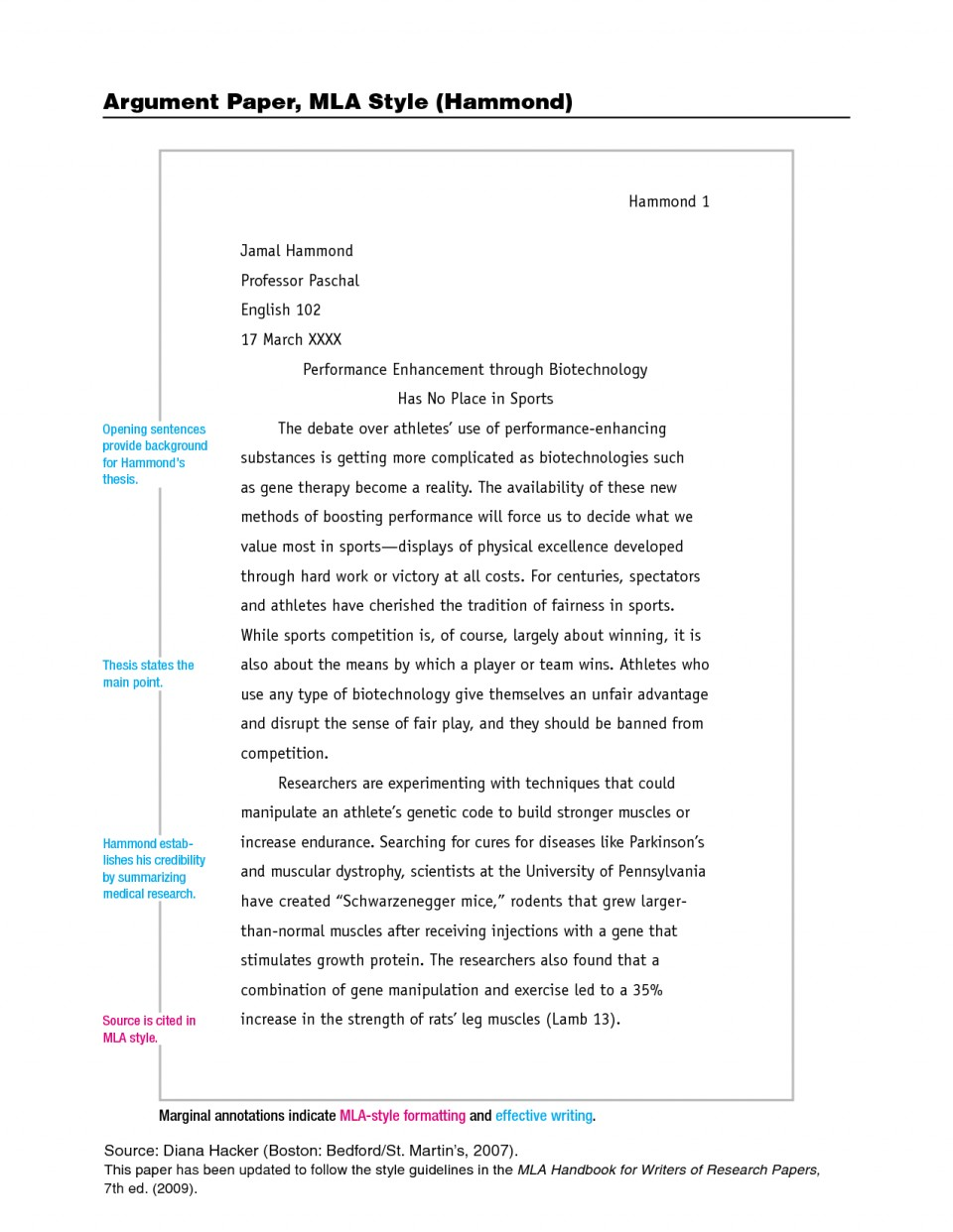 002 Research Paper Mla Style Sample Stupendous Papers Example Format Works Cited College Writing 960