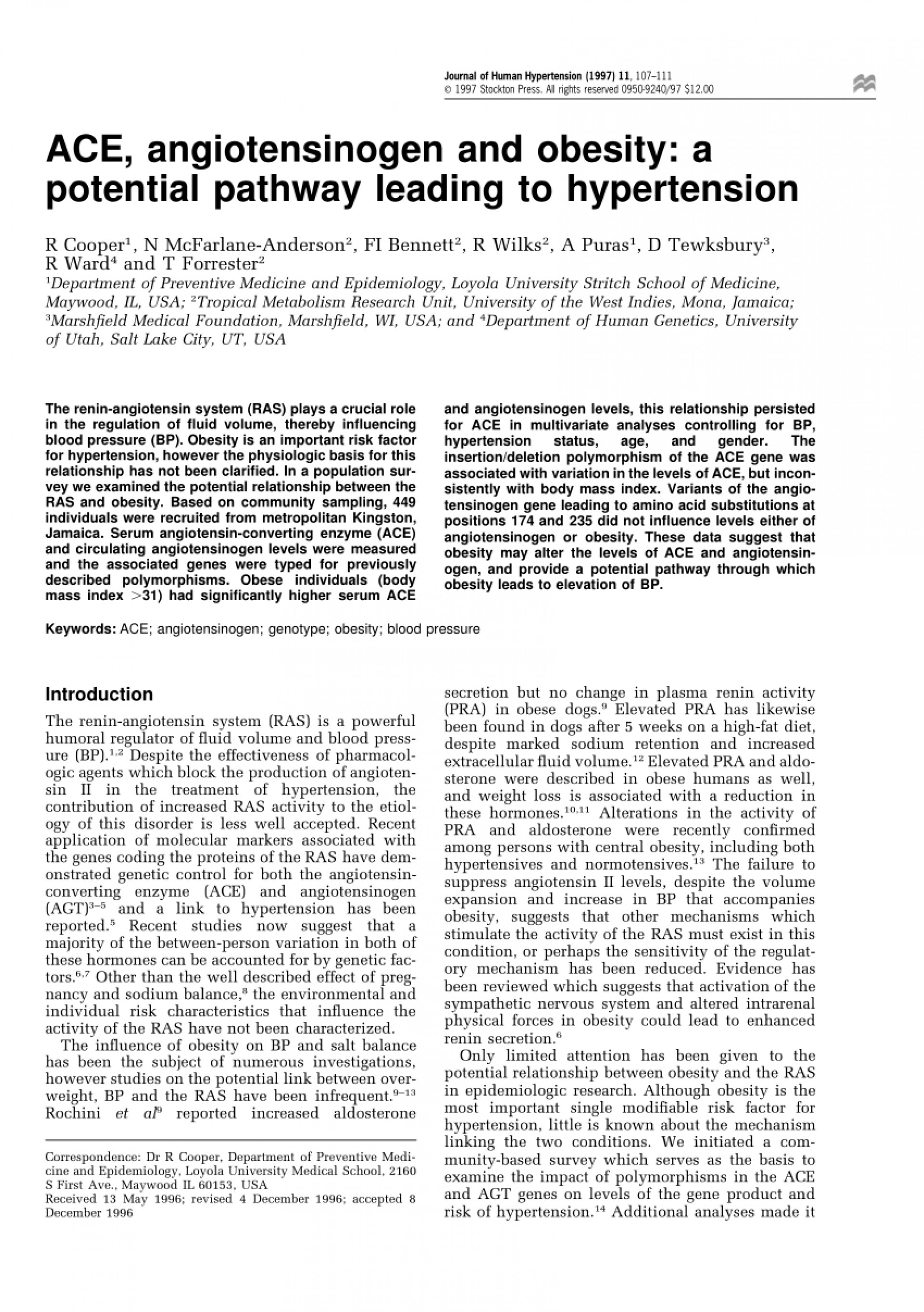 002 Research Paper Obesity And Hypertension Papers Dreaded 1920