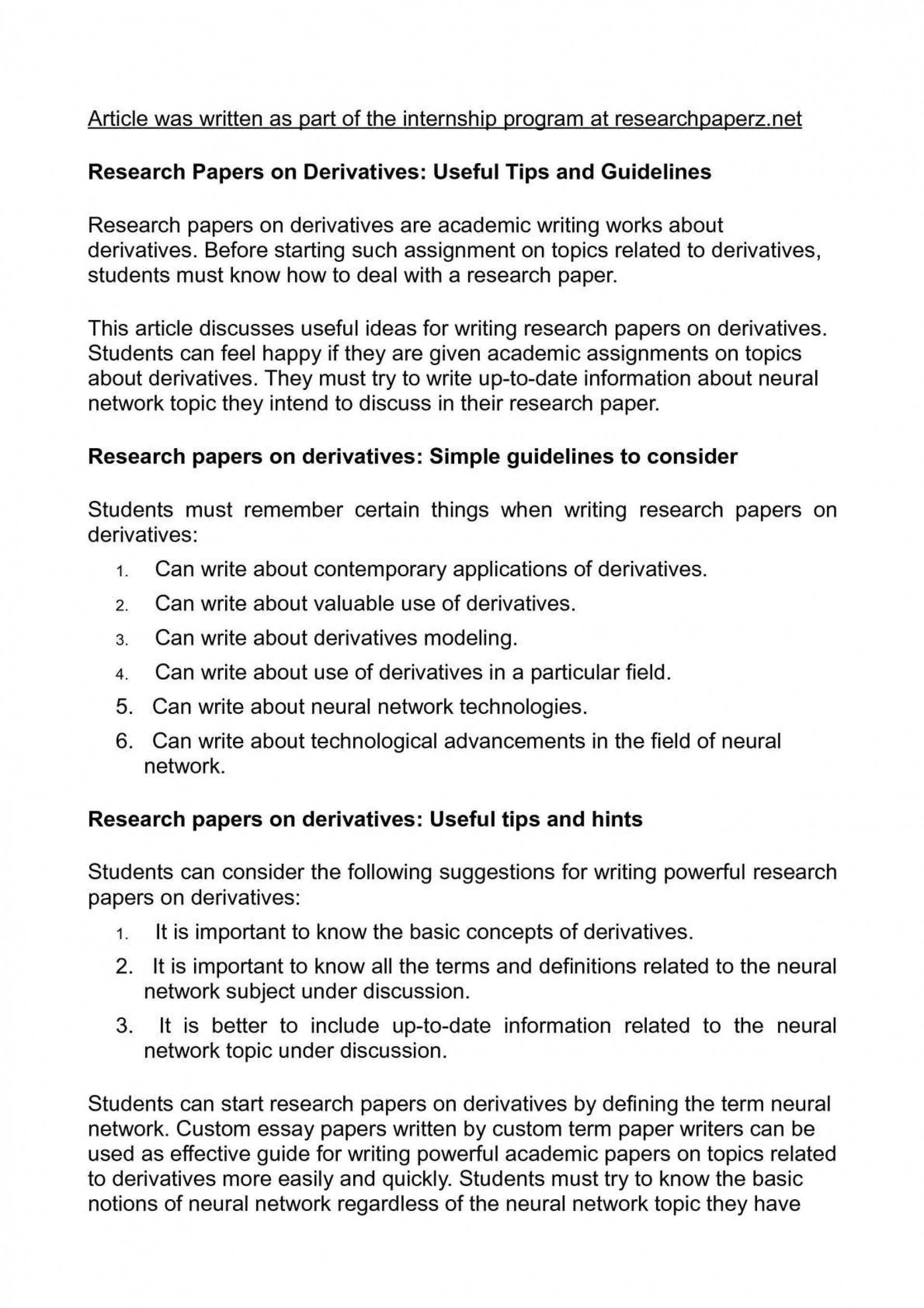 002 Research Paper Tips Writing Wonderful For A Fast Apa 1920