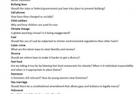 002 Research Paper Topics List Argumentative For Fearsome Psychology