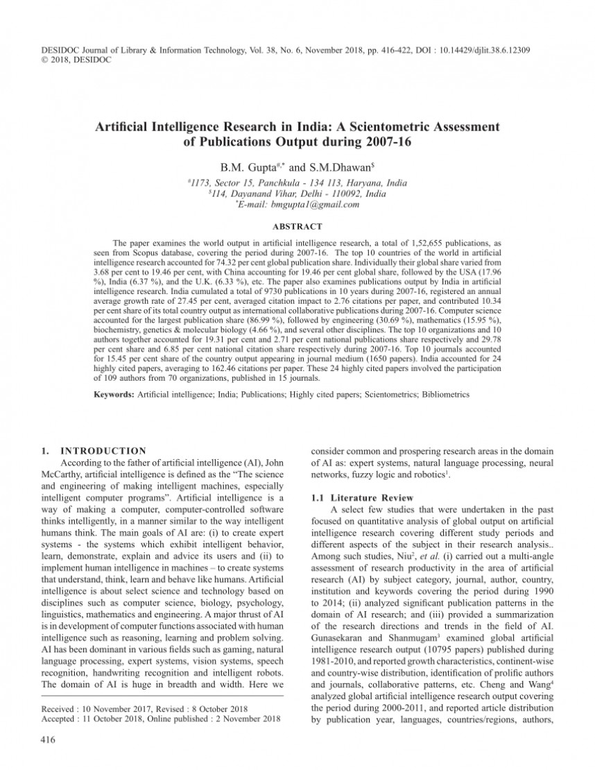 002 Research Papers Artificial Intelligence Paper Imposing On Free Download In Finance