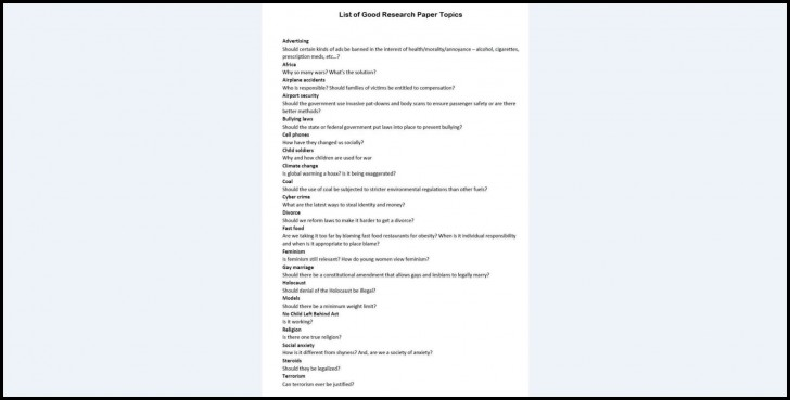 002 Topics On Research Papers Paper List Of Unusual For History In Developmental Psychology 728