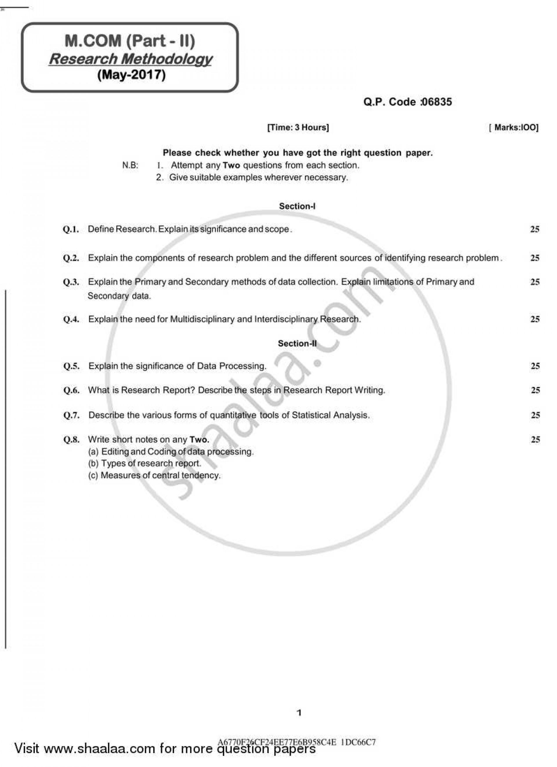002 University Of Mumbai Master Mcom Research Methodology Yearly Pattern Part 2017 26f851382b392441599d7a0d1d7fd45f3 Business Methods Question Unusual Paper 2016 1920