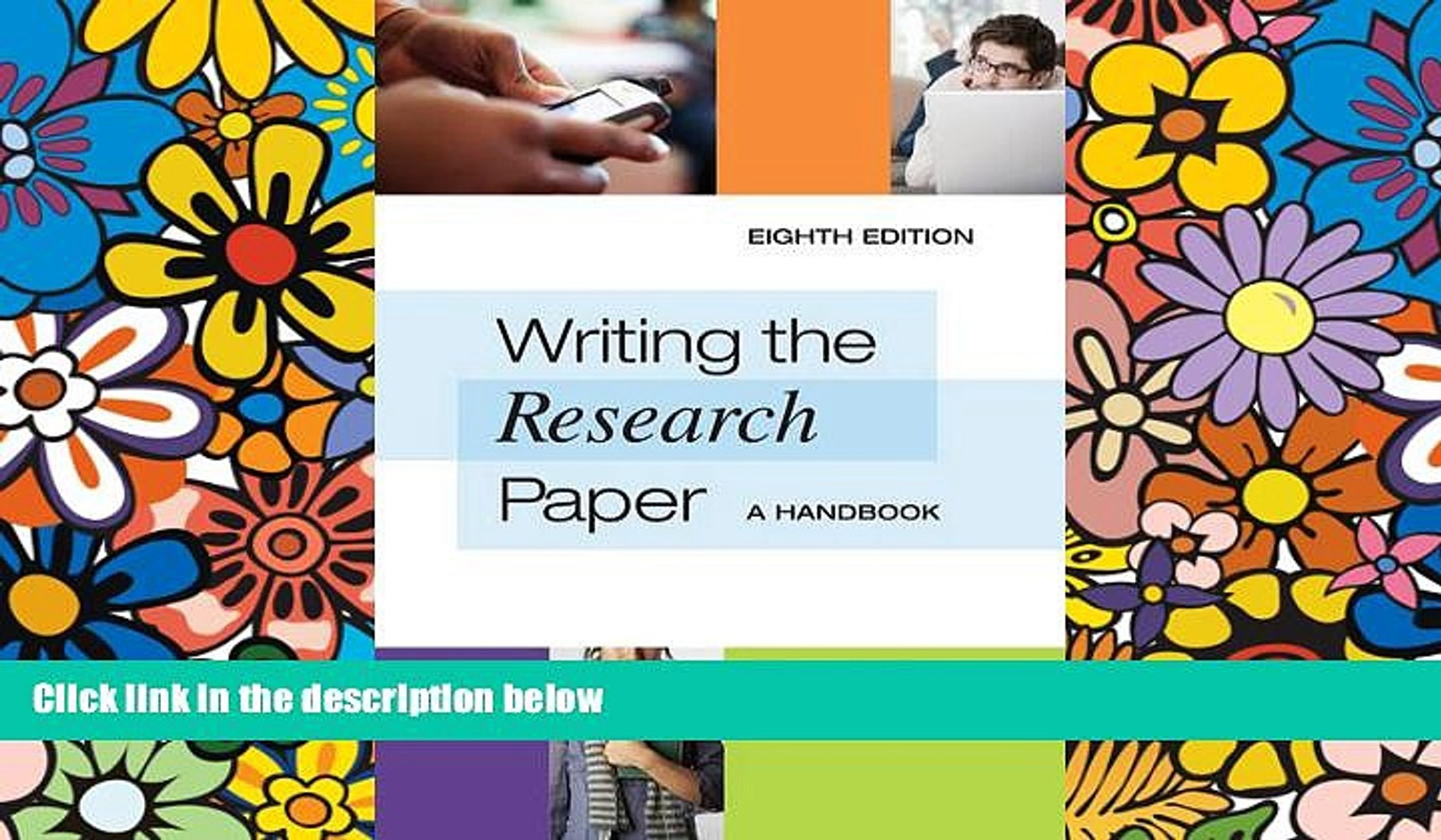 002 Writing The Research Paper Handbook X1080 Wonderful A 8th Edition Full