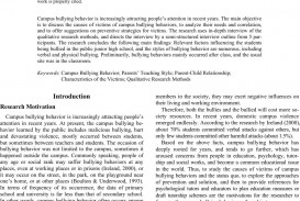 003 36232 1 Research Paper Empirical Articles On Best Bullying