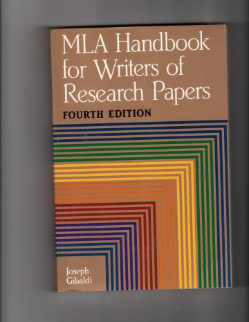 003 91or7esc2gl Research Paper The Mla Handbook For Writers Of Fearsome Papers 8th Edition 7th 2009 (8th Ed.) 360