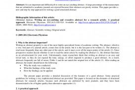003 Abstract For Research Paper Archaicawful A Sample Of An Apa Example And Introduction