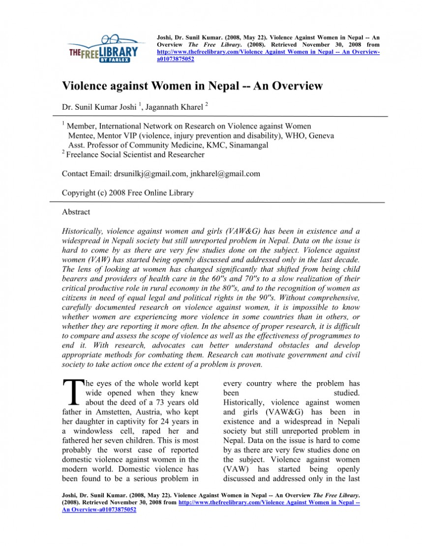 003 Abstract For Research Paper On Domestic Violence Astounding Sample Example