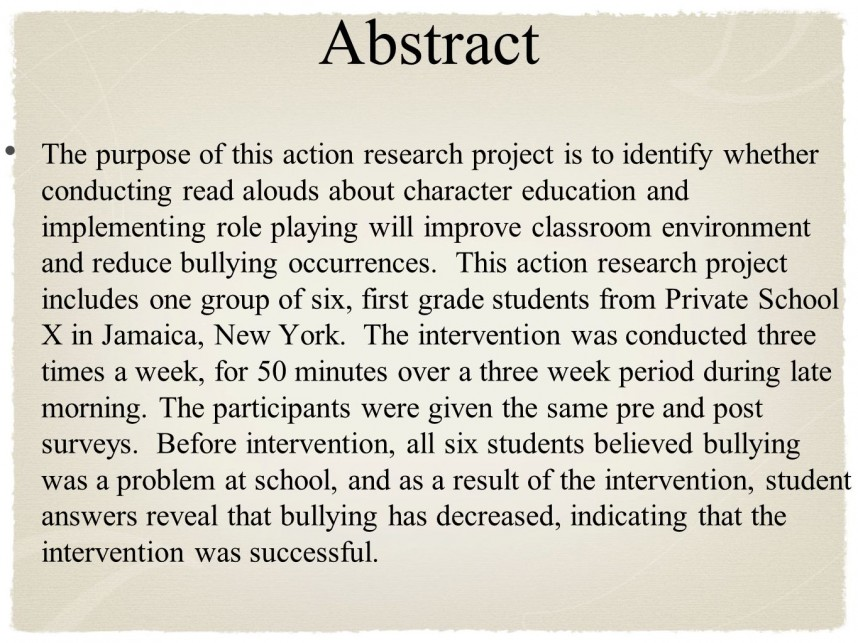 003 Abstract Research Paper About Formidable Bullying