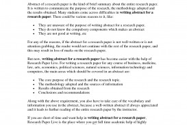 003 Abstract Research Paper Topics Sample 76267 Shocking