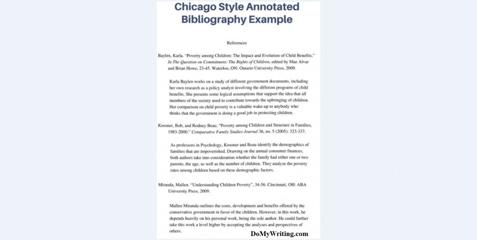003 Annotated Bibliography Example Chicago Research Imposing Paper Proposal And 960