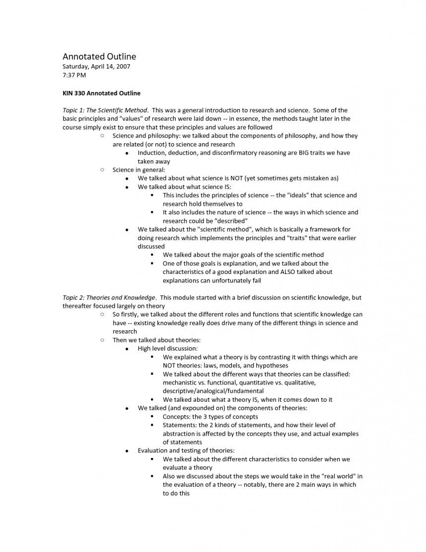 003 Apa Annotated Outline For Research 308696 Bibliography Frightening Paper
