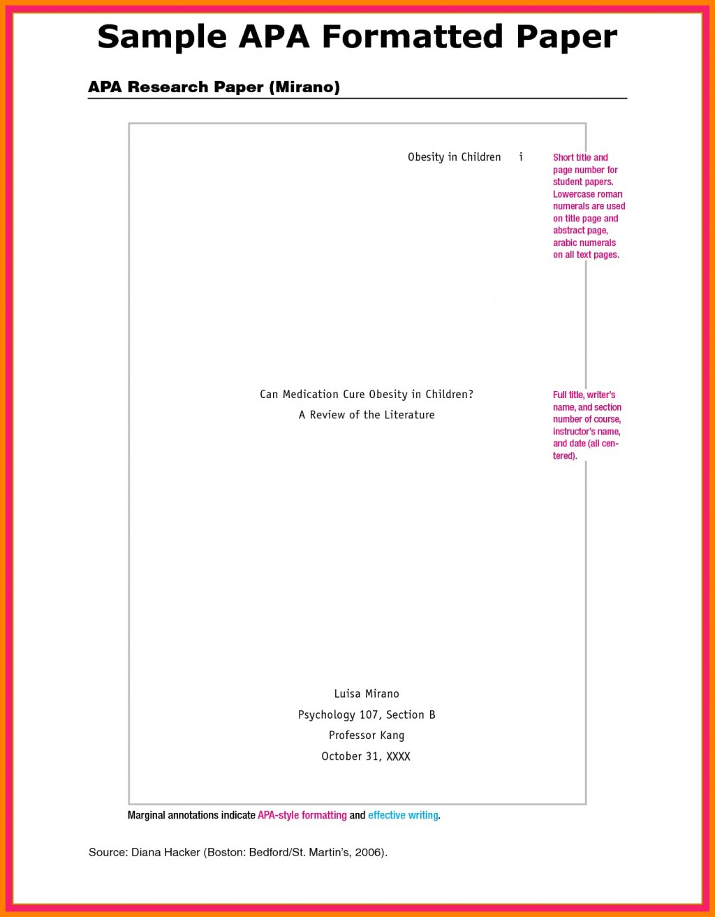 003 Apa Paper Format Appendix Example Research Of Appendices Outstanding In Large