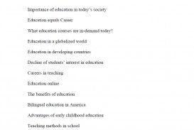 003 Best Topic For Research About Education Suggestions Essays On Awesome Paper
